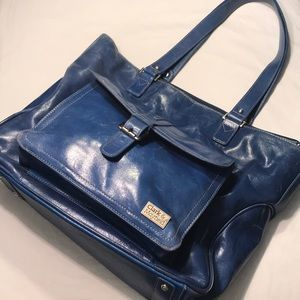 Clark & Mayfield Computer Tote Bag Blue